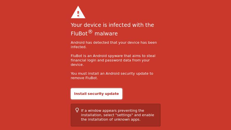 Achter deze 'beveiligingsupdate' zit de FluBot-malware