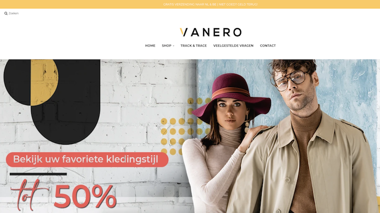 Politie waarschuwt voor foute webshops Vanero.nl en Flovina.nl