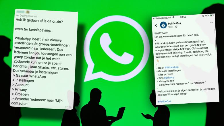 Politie waarschuwt: 'Wijzig je WhatsApp-instellingen zodat oplichters je niet aan groepen kunnen toevoegen'