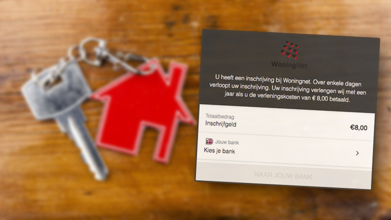 Oplichters doen zich voor als WoningNet in valse mails: 'Over enkele dagen verloopt uw inschrijving'