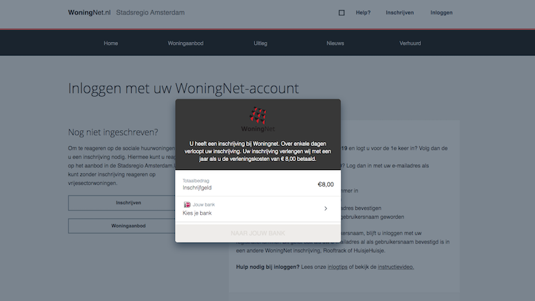 Valse mails namens WoningNet? Dat is phishing: 'Over enkele dagen verloopt uw inschrijving. Betaal de verlengingskosten'