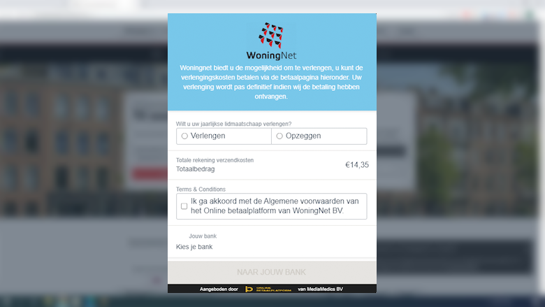 Overtuigende oplichting en phishing namens 'WoningNet' per sms én e-mail: 'Betaal de verlengingskosten voor uw inschrijving'